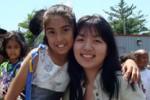 "Elizabeth Joy Roe with her ""star student,"" Melanie"