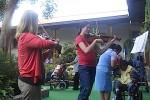 Caeli Smith and Caterina Longhi perform in Antigua, Guatemala.