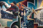 "Thomas Hart Benton's ""Instruments of Power"" from America Today"