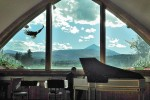 Harpsichordist Evan Kory performing in Big Sky.