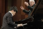 Pianist Yekwon Sunwoo and conductor Leonard Slatkin
