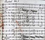 Beethoven 9th Manuscript Closeup