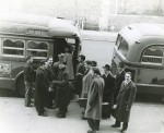 Juilliard musicians on their way to West Point in 1942