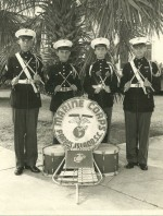 Wallace Deyerle and Marine Corps post band
