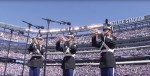 West Point Band playing at a Giants game