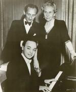 Seymour Lipkin, Vladimir Horowitz, Mrs. Rachmaninoff