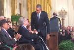 President Obama and Itzhak Perlman