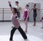 Kazuko Hirabayashi teaches a dance class