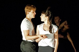 "Tyler Phillips and third-year dancer Daphne Fernberger in Jean-Baptiste Lully's opera ""Achille et Polyxène"""