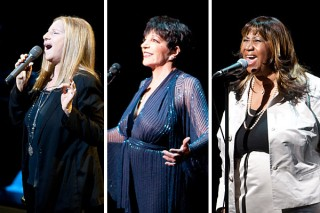 Barbra Streisand, Liza Minelli, and Aretha Franklin sang at a tribute to Marvin Hamlisch