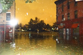 Lower Manhattan flooded