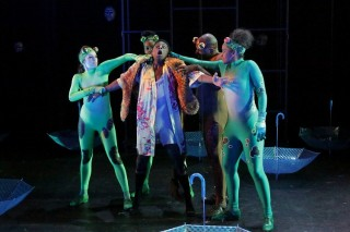 """Third-year actors in """"The Frogs"""" by Aristophanes"""