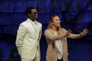 "Fourth-year actors in Tony Kushner's ""Angels in America: Part I"""