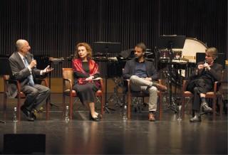 Kaija Saariaho, Vasco Mendonça, and Esa-Pekka Salonen