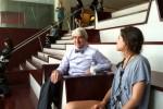 Waterston in Newsroom at Juilliard