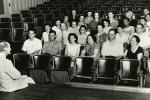 Van Cliburn in a piano master class